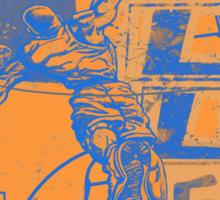 Baller Basketball Hoops Slam Dunk Blue Orange Sticker