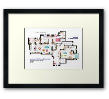 Apartments of Will Truman, Grace Adler and Jack MacFarland Framed Print