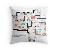 Apartments of Will Truman, Grace Adler and Jack MacFarland Throw Pillow