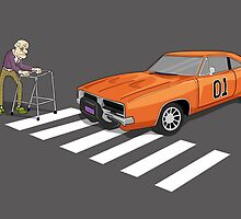The Dukes Of Hazzard Old Man Zimmer Frame by Creative Spectator