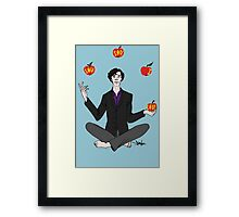 A. Shappey's Apple-Tossing: an Experiment in Happiness Framed Print