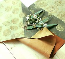Table Runner Eucalypt Green by Jenny Hogben