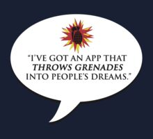 """I've got an app that throws grenades into people's dreams."" - Malcolm Tucker by brilliantbutton"