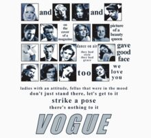 Vogue Roll Call - Pictogram - Madonna (1990) by Ged J