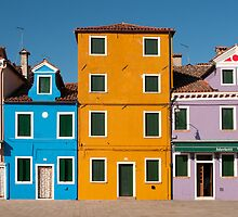 Colourful House Facades, Burano, Venice by Petr Svarc