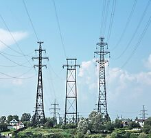 electricity pylon power line by mrivserg