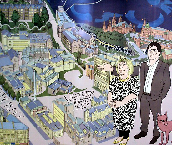 Hillhead underground mural by biddumy redbubble for Decor mural underground
