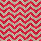 Bold Chevron Pattern 2 by Kat Massard