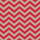 Bold Chevron Pattern 2 by Kat Massard
