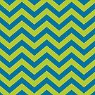 Bold Chevron Pattern 3 by Kat Massard