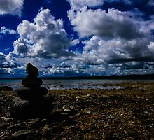 Cairns & Clouds by Shari Galiardi