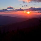 Sundown on the Smoky Mountains by dlhedberg
