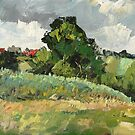 rural plein air landscape painting by aceshirt