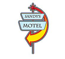 Sandy's Motel campy truck stop tee  Photographic Print