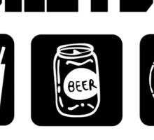 Eat Drink Beer Play Basketball Sticker