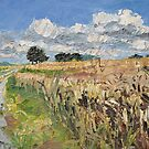 Summer fields, plein air landscape painting by aceshirt