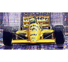 Lotus 99T SPA 1987 Ayrton Senna Photographic Print
