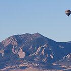 Colorado Rocky Mountain Front Range Hot Air Balloon View  by Bo Insogna