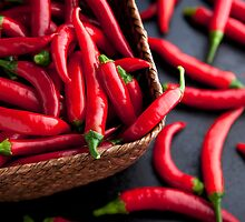 Basket of Chilies by Charlotte Lake