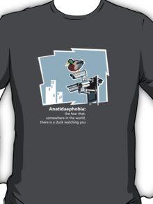 Anatidaephobia (dark background) T-Shirt