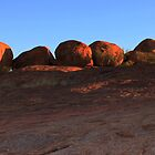 The Devils Marbles at Sunset by myraj