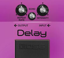 Boss Delay Pedal – iPhone 5 Case by Alisdair Binning