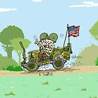 WW2 US Army jeep at countryside by RFlores