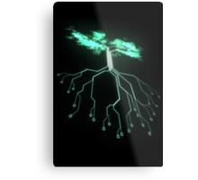 Digital Tree Metal Print