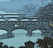 'Ponte Vecchio Blue' by Matt Jewitt