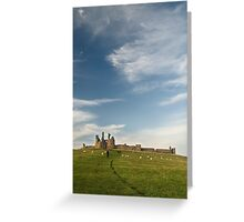 Dunstanburgh castle and sky  Greeting Card