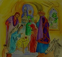 The Wise Men Visit Jesus the Christ by Anne Gitto