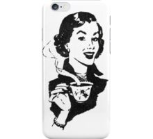 Lady with Coffee phone iPhone Case/Skin