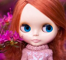 Friendly Freckles in the Fuschia  by Zoe Power