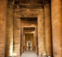 Edfu temple burnt ceiling by Sam Tabone