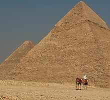 Giza Pyramids Great Pyramid & Khafre by Sam Tabone
