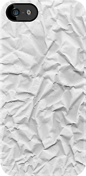Paper Wrinkled phone by Vana Shipton