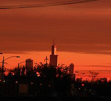 Sunrise Hits Chicago by Adam Kuehl