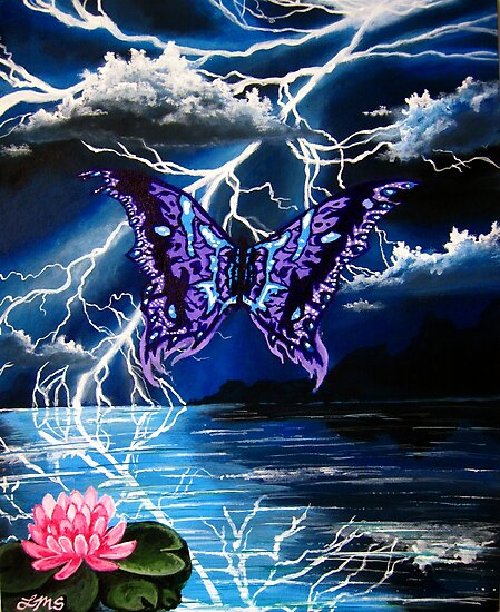 night of the purple butterfly by LoreLeft27