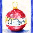 Christmas Bauble Card by Adriana Glackin