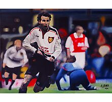 Giggs goal v Arsenal Oil on Canvas Photographic Print