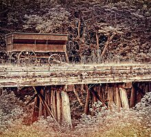 Wagon on the Trestle by Sharlotte Hughes
