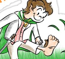 Halfling Feet Sticker