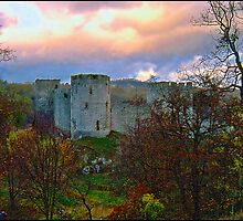 """ An Autumn evening  at Chepstow Castle"" by mrcoradour"