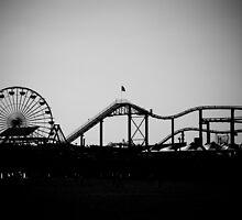 Santa Monica Pier by cbrocoff