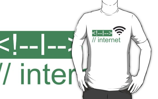 I LOVE INTERNET T-shirt by ethnographics