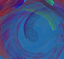Blue Swirls With Colors by pjwuebker
