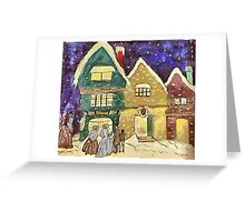 Christmas Visiters Greeting Card