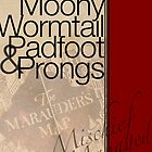 Moony, Wormtail, Padfoot, and Prongs by Allison Imagining