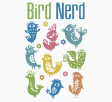 Bird Nerd - white by Andi Bird