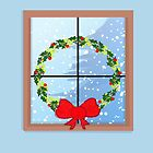 Christmas Window Wreath by elledeegee